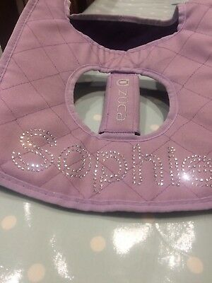 Zuca Sport Bag Seat Cushion Lilac With Name Sophie
