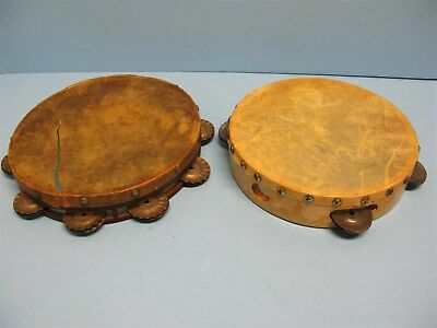 Tambourine Vintage, Antique Lot Of 2. Nice