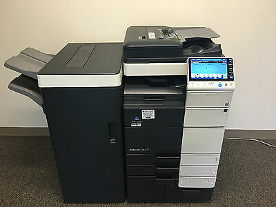 Konica Minolta Bizhub C754 Color Copier Printer Scanner Fax LOW 234k total pages