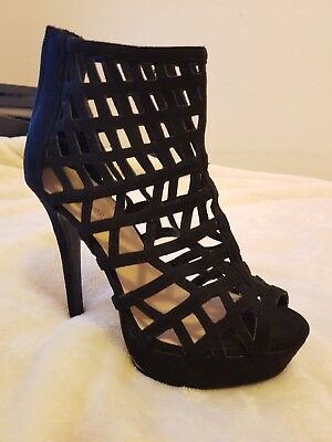 New Look Size 6 Black Cage Stiletto Shoes