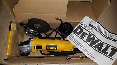 DEWALT DWE4011 4-1/2 Inch Small Angle Grinder with One-Touch Guard New In Box
