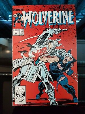 Wolverine (1988 1st Ongoing Series) #2 VS Silver Samurai NM+ 9.6 Chris Claremont