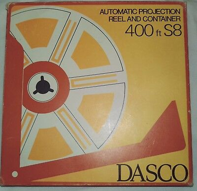 Dasco Auto Take Up 400Ft Super 8Mm Spool Reel No Tape Great Condition + Extras
