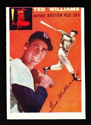 TED WILLIAMS Original Vintage 1954 Topps Sports Illustrated SI Card #1 - RARE!