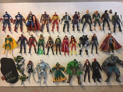 Marvel Legends Avengers Lot of 29 Figures Thor Cap hulk Widow and More!