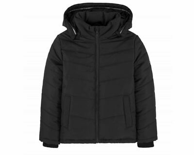 Sale Boys Hugo Boss J26324 09B Puffer Jacket Hooded Black