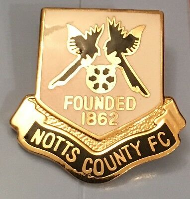 Notts County Old Rare Large Collectable Football Pin Badge