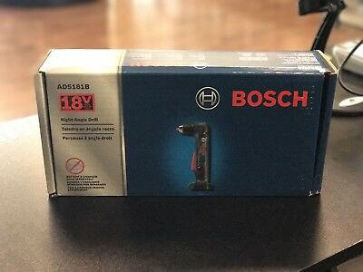 "Bosch ADS181B 18V Li-Ion 1/2"" Right Angle Drill Driver New Tool Only"
