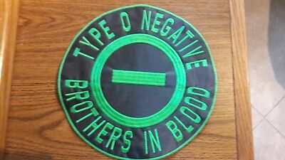Type O Negative,sew On Embroidered Large Back Patch