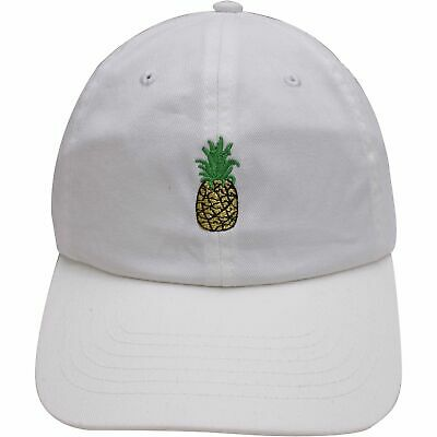 1a3c10cca7a Pineapple Dad Hat Adjustable White Pineapple Cap