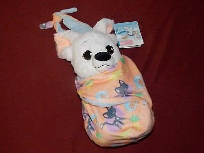 """Disney Parks 2017 Bolt Baby Plush with Blanket Pouch 10"""" Babies Theme NEW"""