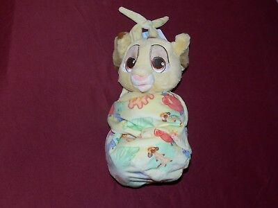 "Disney Parks Baby Babies SIMBA in a Blanket Pouch Plush New 10"" Lion King"