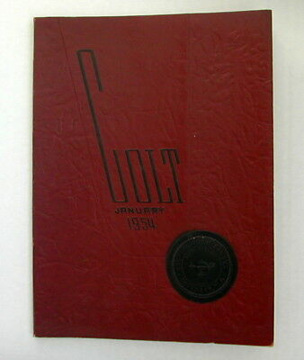 "Central High School ""The Colt"" Yearbook January 1954 Paterson NJ New Jersey"