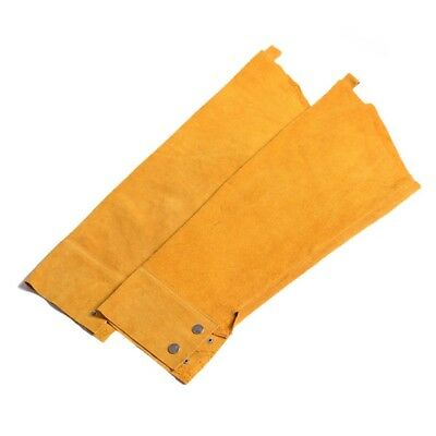 Pop Welding Sleeves Cowhide Protective Flame-proof Oversleeve Welders Safe Tool