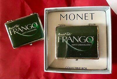 Marshall Field's Frango Mint Chocolates Trinket Box Monet New in Collectors Box