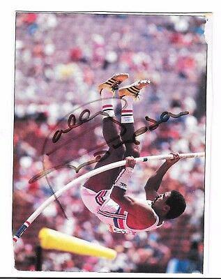 Daley Thompson Hand Signed Autograph On Colour Photograph ~  Olympics
