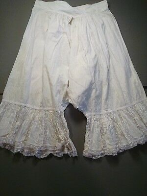 Vintage Victorian Style Bloomers Childs White Lacey (865)