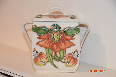 Moorcroft Biscuit Barrel First Quality, made for Festival of Flowers June 2017