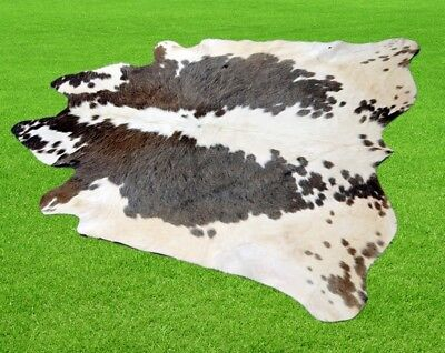 """New Cowhide Rugs Area Cow Skin Leather 16.29 sq.feet (51""""x46"""") Cow hide A-1287"""