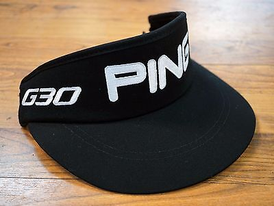 PING Golf Bubba Watson G30 Adjustable High Crown Tour Visor Black White NEW! 3a45763cef7