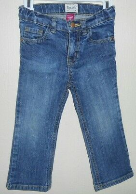CHILDREN'S PLACE GIRLS BOOTCUT STRETCH JEANS SZ 3T skinny distressed ripped
