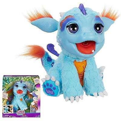 NEW Torch My Blazing Dragon FurReal Friends Flames Plush Sounds Doll Burps Pet