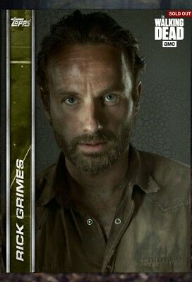 Topps The Walking Dead (TWD) Digital Card Trader - Rick Grimes Insert