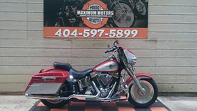 Harley Davidson FLSTF  2002 Red Fatboy FRESH TRADE IT READY TO RIDE BUY IT NOW 4 LESS-WE SHIP WORLDWIDE