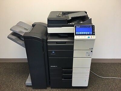 Konica Minolta Bizhub 554e Black & White Copier Printer Scanner LOW 189k total !