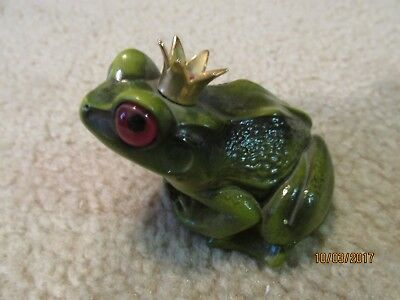 Windstone Editions King or Prince Frog with Gold Crown Figurine