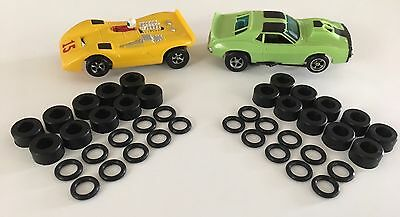 10 Sets Of Front & Rear Aurora AFX Slot Car Tires