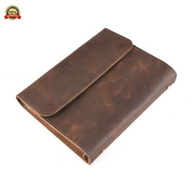 SAIBANG Spilt Leather Journal Writing Notebook, Vintage Genuine Leather Travel D