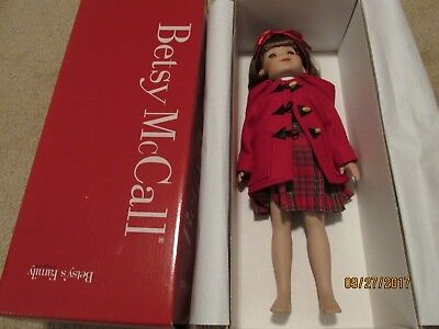 Beautiful Betsy McCall Betsy's Family Duffle Coat Darling Porcelain Doll in Box