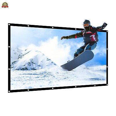 APEMAN 85''Projector Screen Foldable Portable Screen 16:9 for Home Theater Indoo