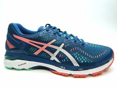 ASICS GEL KAYANO 23 T696N 5893 Poseidon Silver Cockatoo Women Shoes Size 12.5