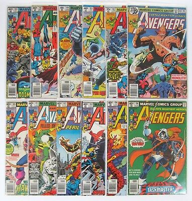 Avengers #180-#196 Lot of 12 Marvel Comics 1st App of Taskmaster