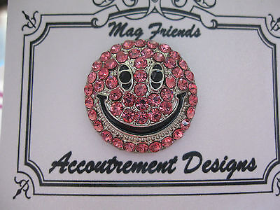 Accoutrement Designs Pink Happy Face Smiley Needle Minder Magnet Mag Friends