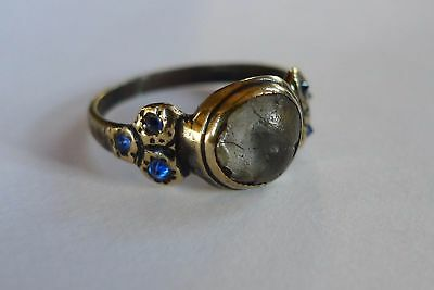 c1550 AD British UK Found STUNNING Tudor Ladies Decorative Ring 6 REAL SAPPHIRES