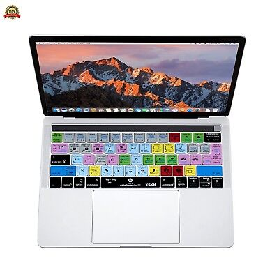 XSKN Adobe Premiere Pro English Shortcut Silicone Keyboard Skin Cover for Apple