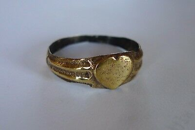 British Uk Metal Detecting Find Ladies Tudor Betrothal Wedding Ring Love Heart