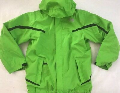 The North Face Youth L Boys 14/16 Bright Green Coat Shell Fleece Jacket 2 In 1
