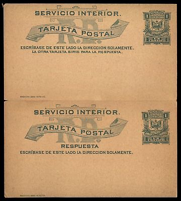 Mayfairstamps Dominican Republic 1c Green Mint Postal Stationery Reply Card