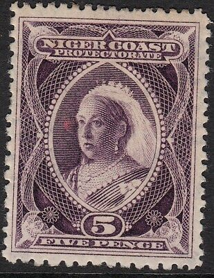 Niger Coast Protectorate, 1897 5d compound perf, mh