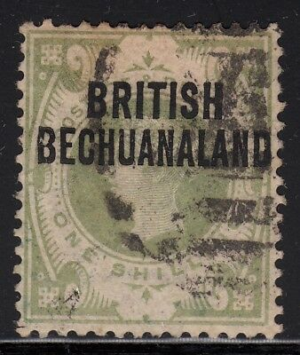 British Bechuanaland 1891 horizontal overprint, 1 shilling green, used