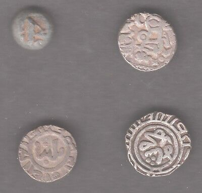Four medieval Indian coins