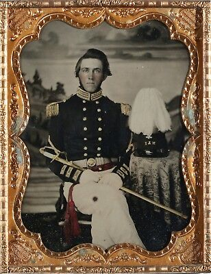 Confederate 1/2 Pl. Ambro of William Penn Metts, New Bern Light Infantry, N.C.