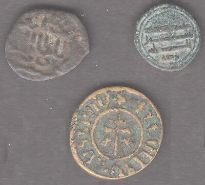 Three medieval Arab & Cilician coins