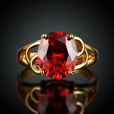 TOP18K Yellow Gold MIL[418]2017 New Pattern Fashion Personality Ruby 2.50ct US/8