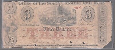 Two 1870s notes: US 25-cent and South Carolina Rail Road $3