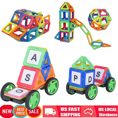 64Pc Magnetic Tiles Building Blocks Education Toys for Kids Baby Christmas Gift